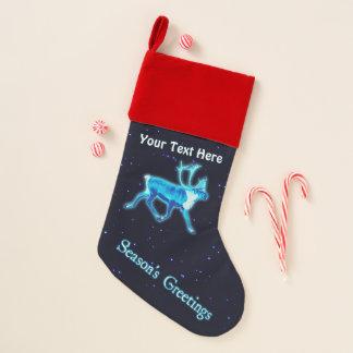 Chaussette De Noël Bonnes Fêtes - caribou bleu (renne)
