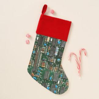 Chaussette De Noël Carte électronique de l'électronique d'ordinateur