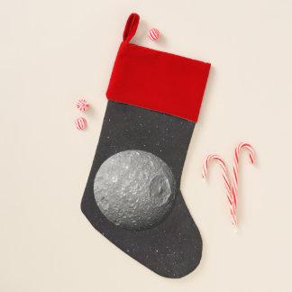 Chaussette De Noël Ciel étoilé de Mimas de lune de Saturn