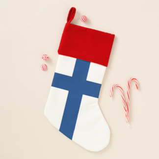 Chaussette De Noël Drapeau de bas de Noël de la Finlande