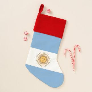 Chaussette De Noël Drapeau de bas de Noël de l'Argentine