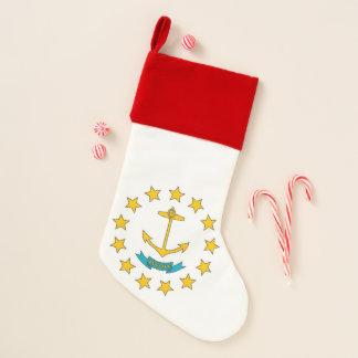 Chaussette De Noël Drapeau de bas de Noël d'Île de Rhode, Etats-Unis