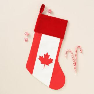 Chaussette De Noël Drapeau de bas de Noël du Canada