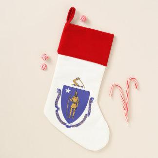 Chaussette De Noël Drapeau de bas de Noël du Massachusetts,