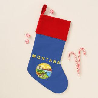 Chaussette De Noël Drapeau de bas de Noël du Montana, Etats-Unis