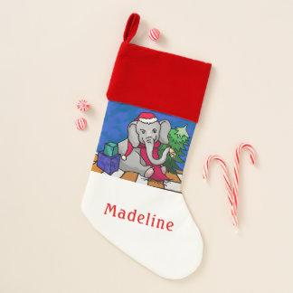 Chaussette De Noël Éléphant coloré personnalisé de Noël de Père Noël
