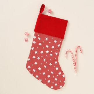 Chaussette De Noël Étoiles des vacances rouges