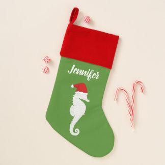 Chaussette De Noël Hippocampe Père Noël