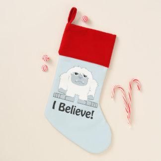 Chaussette De Noël Je crois le yeti mignon