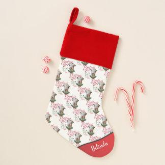Chaussette De Noël La chèvre de bébé de souhaits de Noël de la CHÈVRE