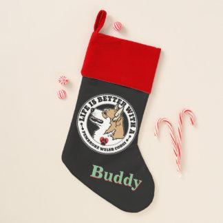 Chaussette De Noël La vie personnalisée est meilleure avec un chien