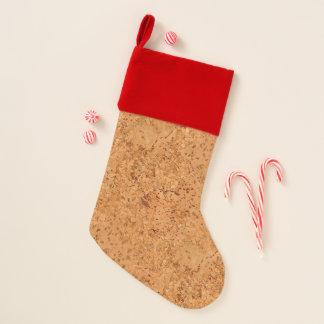 Chaussette De Noël Le regard du grain en bois de noeud de liège de