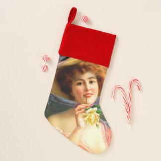 Chaussette De Noël Madame de Falln en rouge