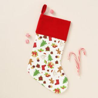 Chaussette De Noël Motif de Noël d'amusement