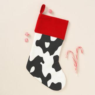 Chaussette De Noël Motif de vache noir et blanc