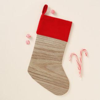 Chaussette De Noël Regard de grain en bois de chêne