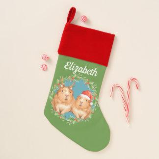Chaussette De Noël Renne de Père Noël de cobayes de Noël personnalisé