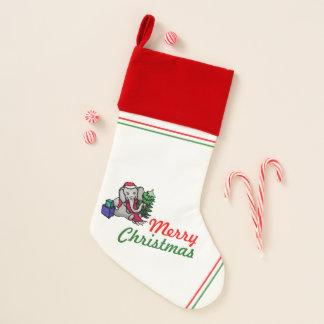 Chaussette De Noël Rétro éléphant vintage de Noël de la bande