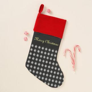 """Chaussette De Noël Rouge noir """"Joyeux Noël """""""