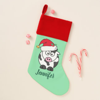 Chaussette De Noël Vache mignonne à Noël