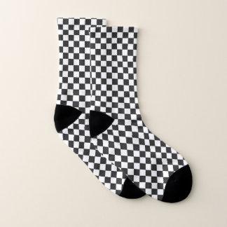 Chaussettes Checkered noires et blanches de