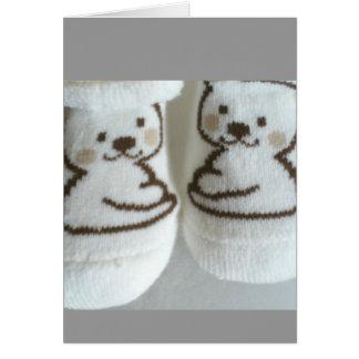 Chaussettes de bébé carte de vœux