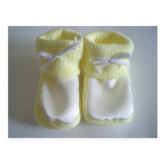 Chaussettes de bébé carte postale