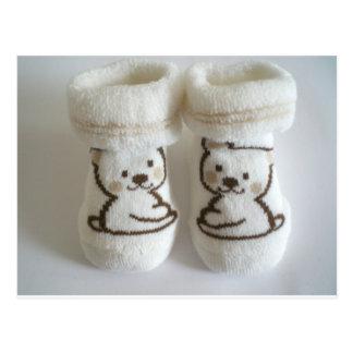 Chaussettes de bébé cartes postales