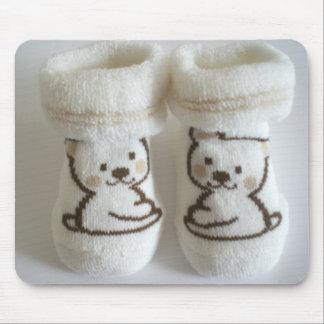 Chaussettes de bébé tapis de souris