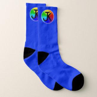 Chaussettes de bleu de logo de roue de couleur de