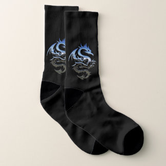 Chaussettes de dragon de chrome