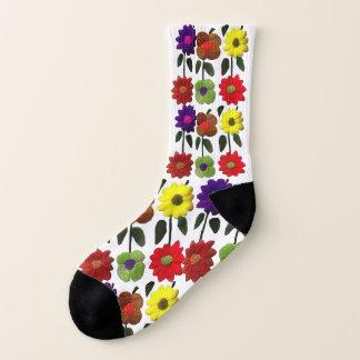 Chaussettes florales mexicaines, les chaussettes