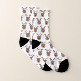 Chaussettes laides de Noël avec le motif drôle de