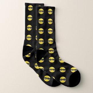 Chaussettes noires d'Emoji de lunettes de soleil