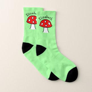 Chaussettes rouges de nom de champignon (petites)
