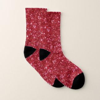 Chaussettes rouges de parties scintillantes et de