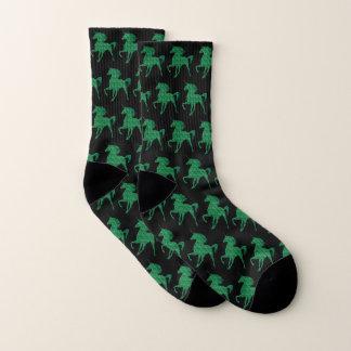 Chaussettes vertes de licorne du feu