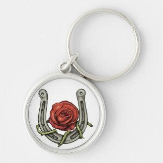 Chaussure de cheval et porte - clé rose porte-clés