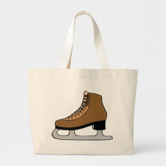 Chaussure de patin de glace grand tote bag