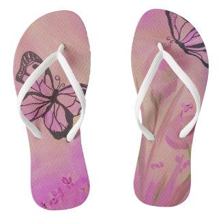 Chaussure d'été de papillon tongs