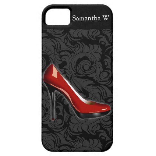 Chaussure rouge impertinente coques iPhone 5