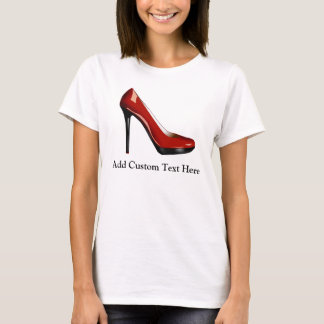 Chaussure rouge impertinente t-shirt