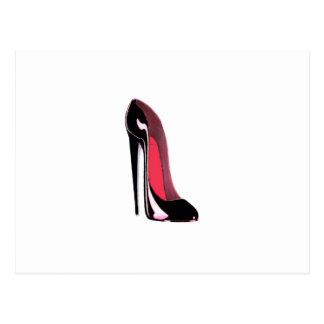 Chaussure stylet noire carte postale