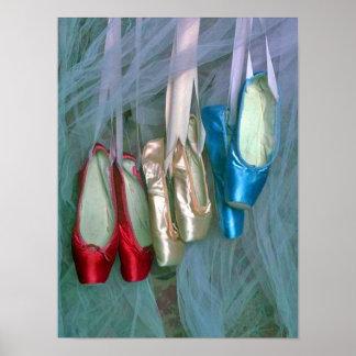 Chaussures de ballet colorées posters