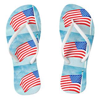 Chaussures de bascule électronique de drapeau tongs