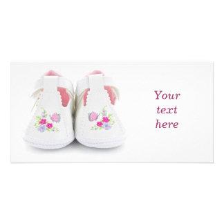 Chaussures de bébé carte avec photo