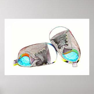 Chaussures de bébé d'art de bruit posters