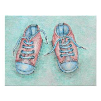 chaussures de bébé invitation personnalisée