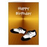 Chaussures de danse d'oscillation de joyeux annive cartes