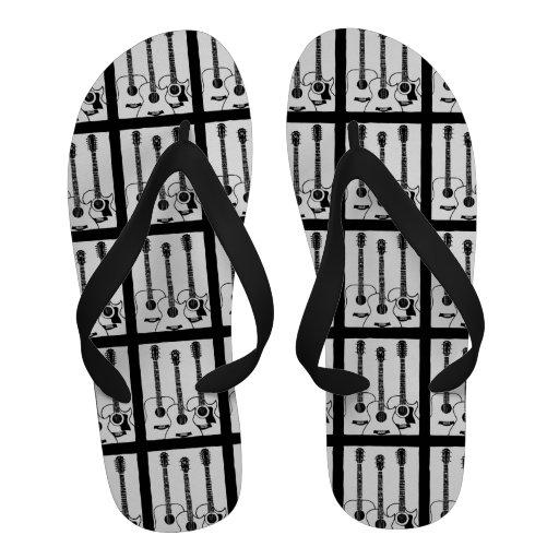 chaussures de guitares acoustiques de b&w chaussures de plage